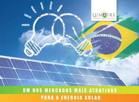 Brasil tem um dos mercados de energia solar mais atrativos, aponta relatório