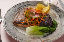 Miso Cod with Forbiden Rice