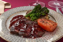 Beef with a Red Wine Demi Glace