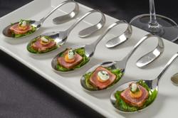 Ahi Tuna on Tasting Spoon