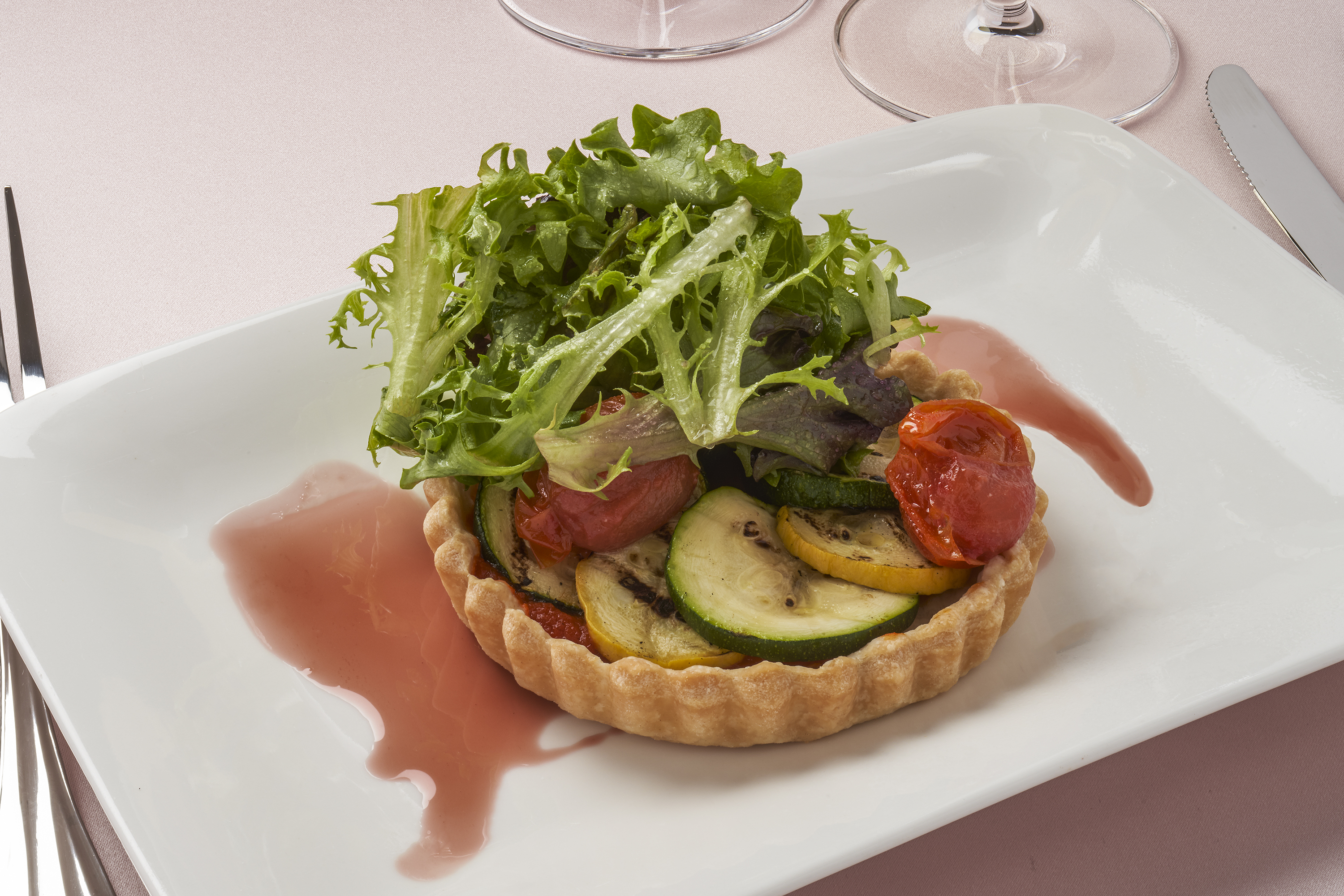 Vegetable Tart with Salad