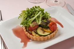 Vegetable Tart with Salad