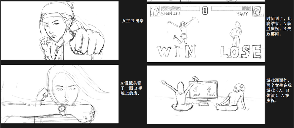 CHANEL J12 watch × Rocket girls fashion film (storyboard)