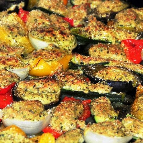 Stuffed baked vegetables