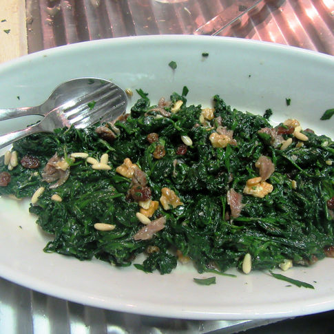 Genoese spinach salad