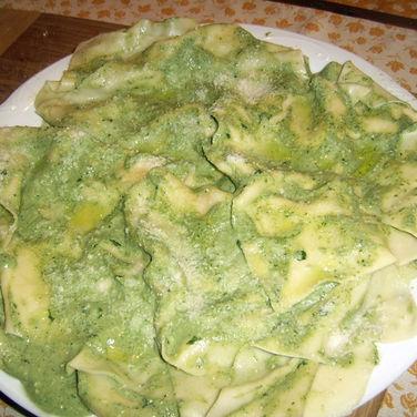 Lasagne with Pesto sauce