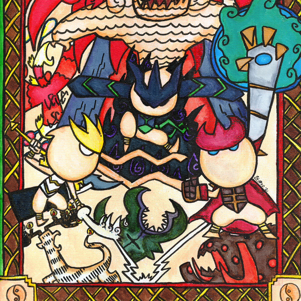 "Dragon Lords 12""x16"" Print"