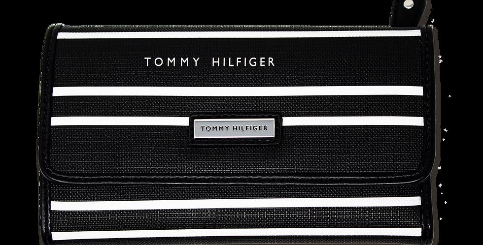 Cartera Tommy Hilfiger negro con blanco