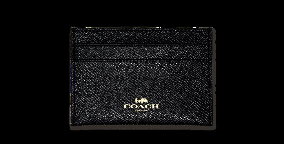 Tarjetero Coach clasico negro