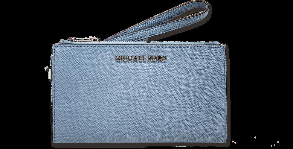 Cartera Michael Kors azul claro de piel