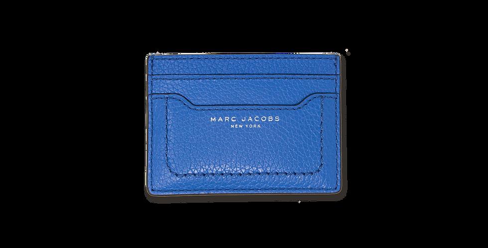 Tarjetero Marc Jacobs azul de piel