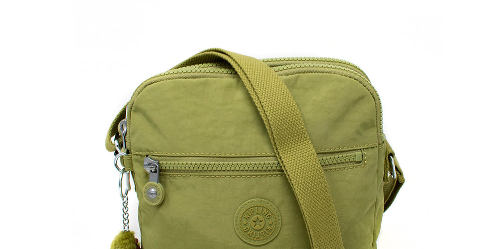 Crossbody Kipling doble verde olivo