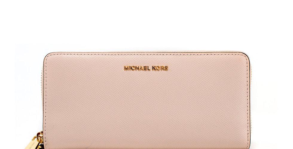 Cartera Michael Kors de piel baby rose