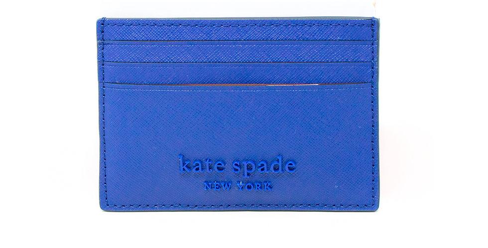 Tarjetero Kate Spade azul de piel