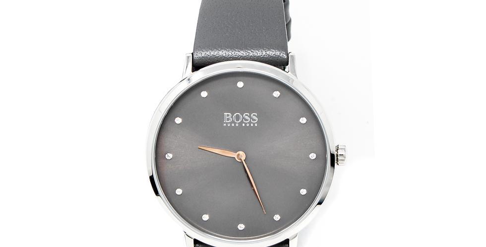 Reloj Hugo Boss gris con cristales