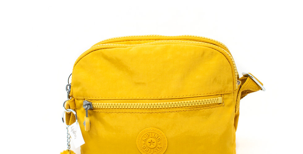 Crossbody Kipling doble amarilla