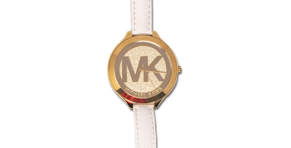 Reloj Michael Kors Blanco con Dorado