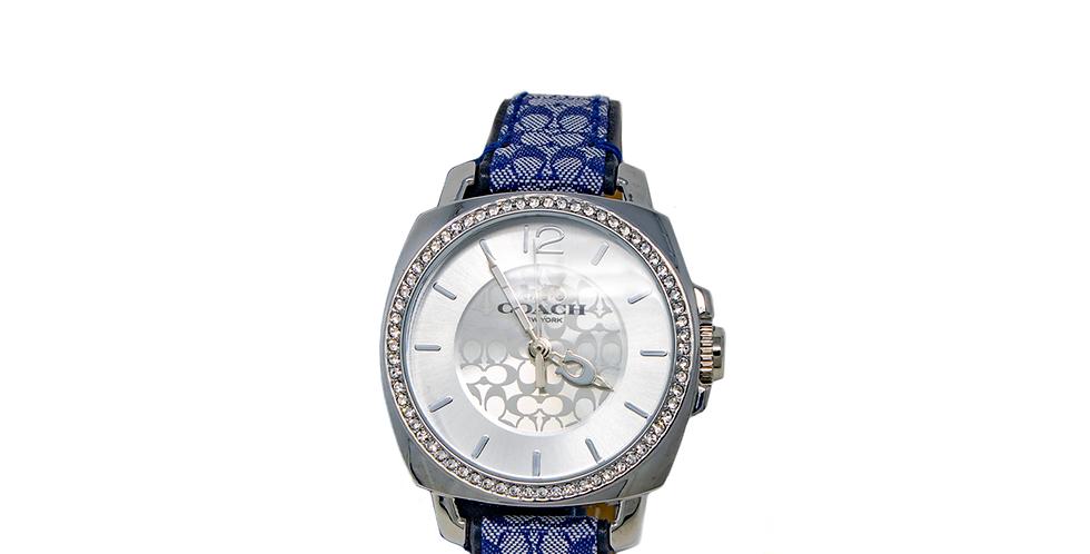 Reloj Coach monogramado con cristales