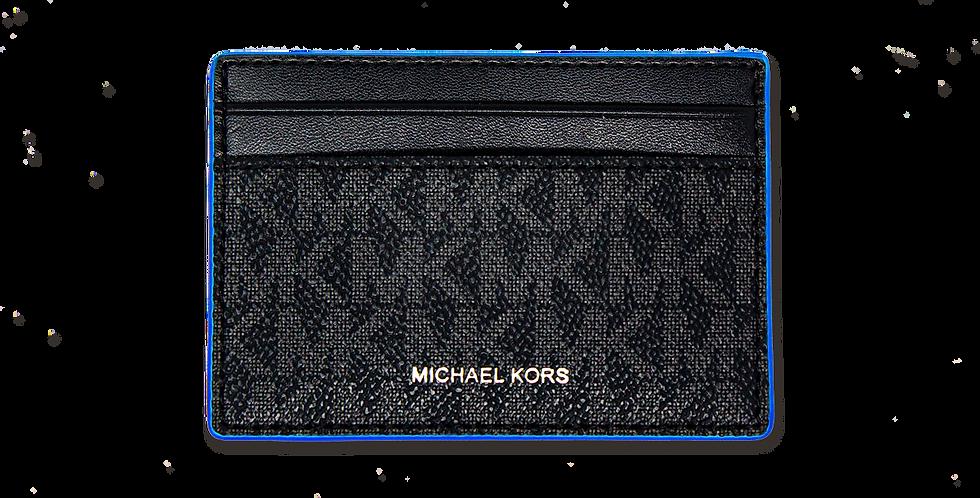 Tarjetero Michael Kors de piel negro
