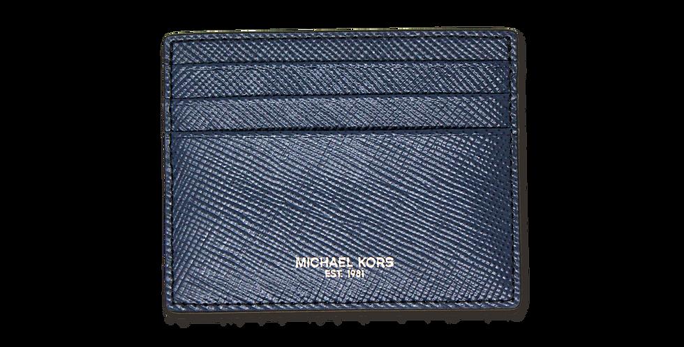 Tarjetero Michael Kors de piel azul marino