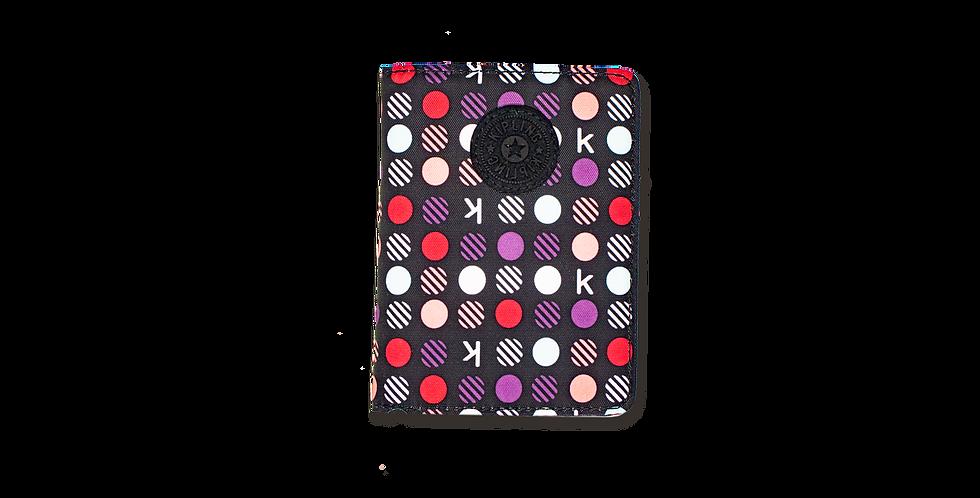 Porta Pasaporte Kipling puntos colores