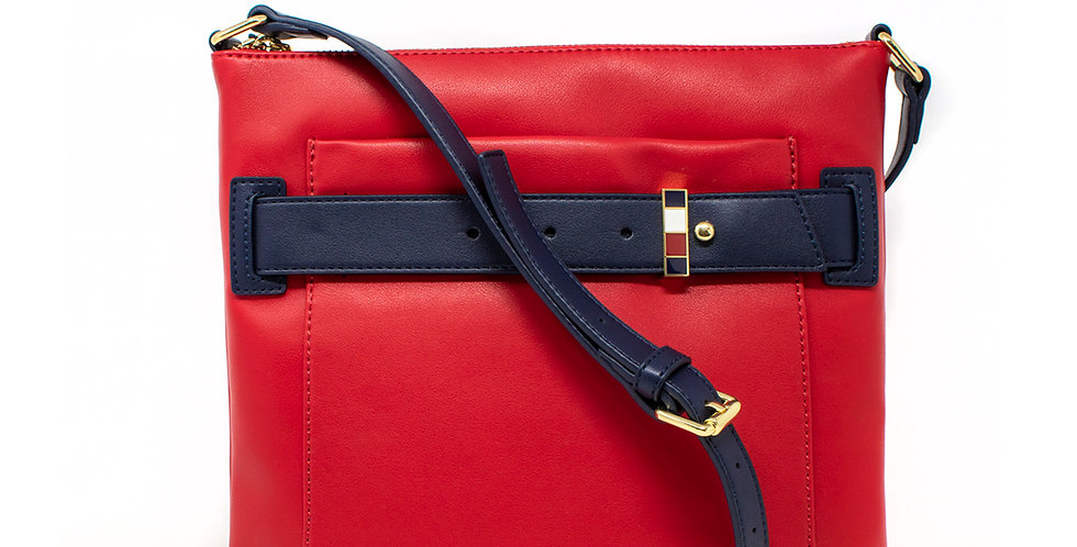 Crossbody Tommy Hilfiger roja XL