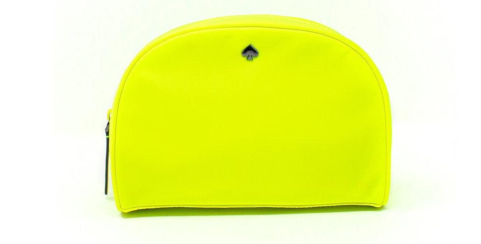 Cosmetiquera Kate Spade amarillo fosforescente