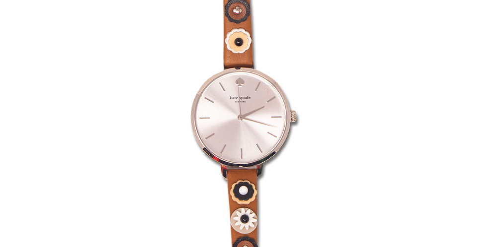 Reloj Kate Spade flores de piel