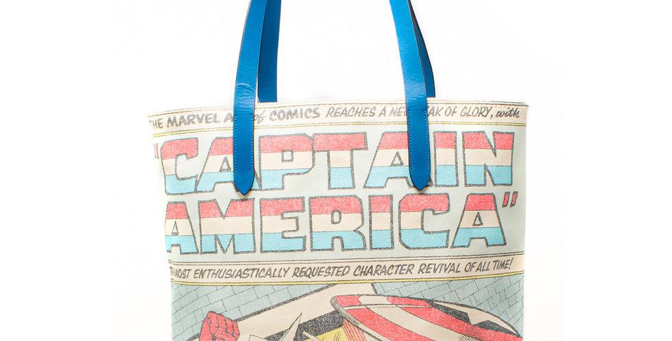 Bolsa Tote Coach Marvel Capitan America