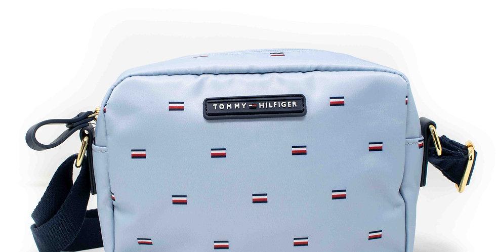 Crossbody Tommy Hilfiger azul cielo estilo camara