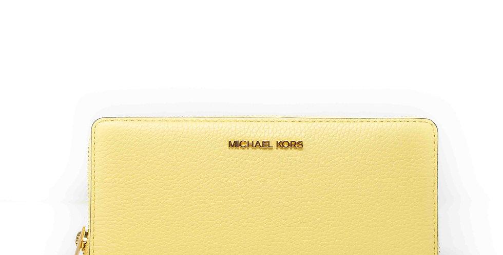 Cartera Michael Kors amarilla de piel