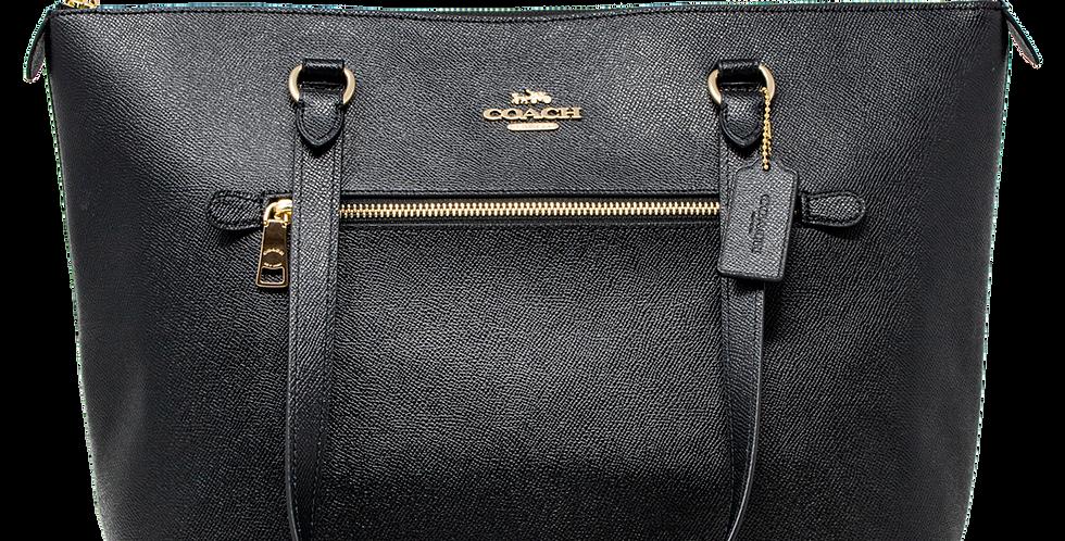 Bolsa Tote Coach negro de piel