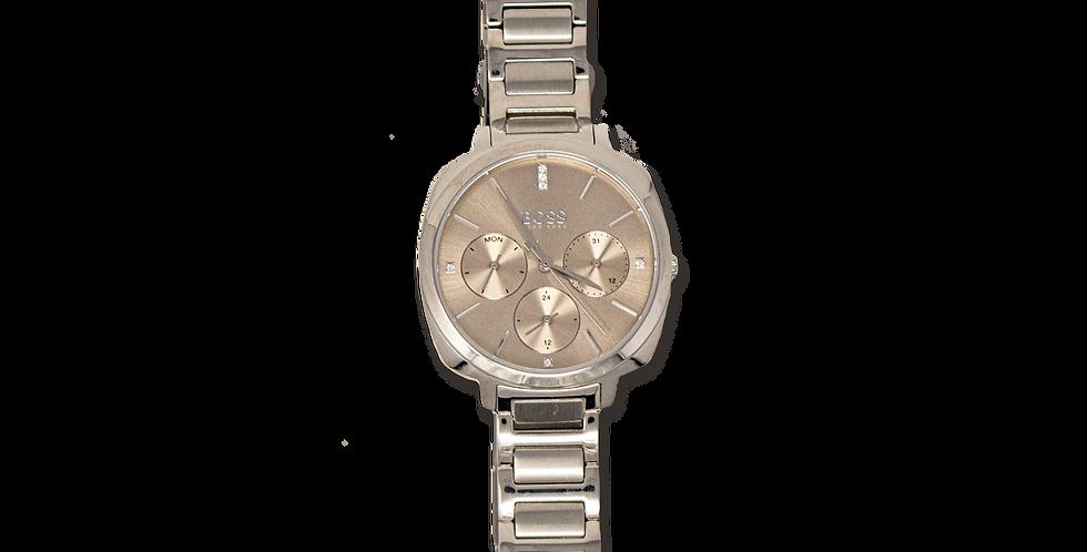 Reloj Hugo Boss con cronografo color plata con cristales