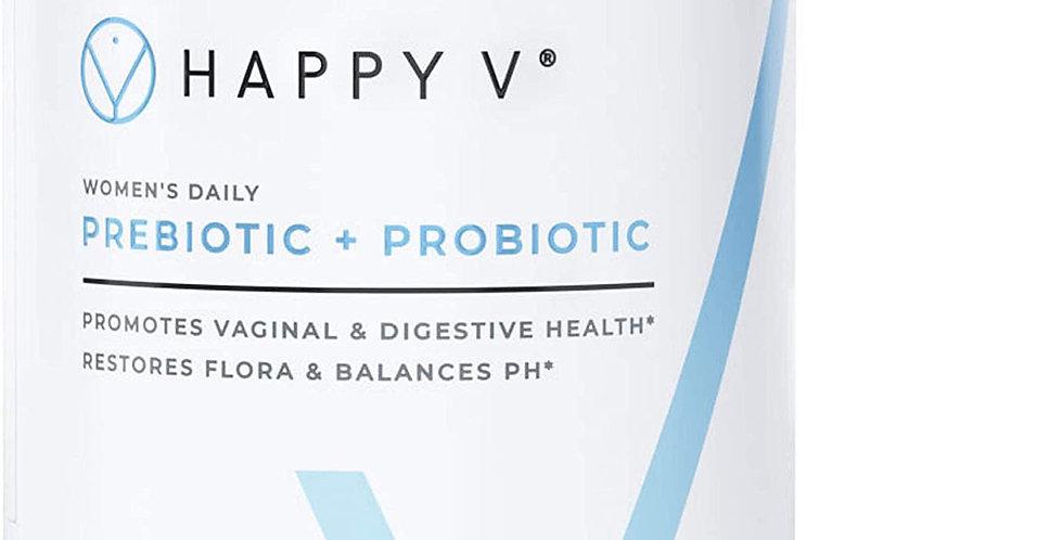 Happy V Prebiotic Fiber & Vaginal Health Prebiotics + Probiotics