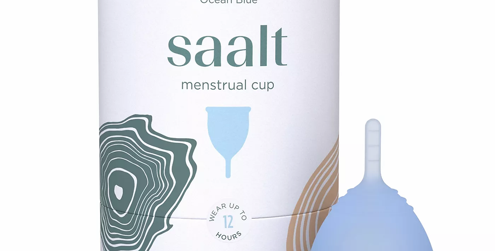 Saalt Menstrual Cup - Ocean Blue - Regular