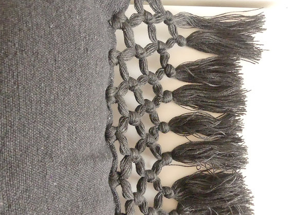 Coussin Eli gris anthracite