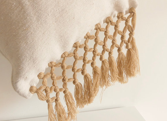 Coussin Eli beige/camel