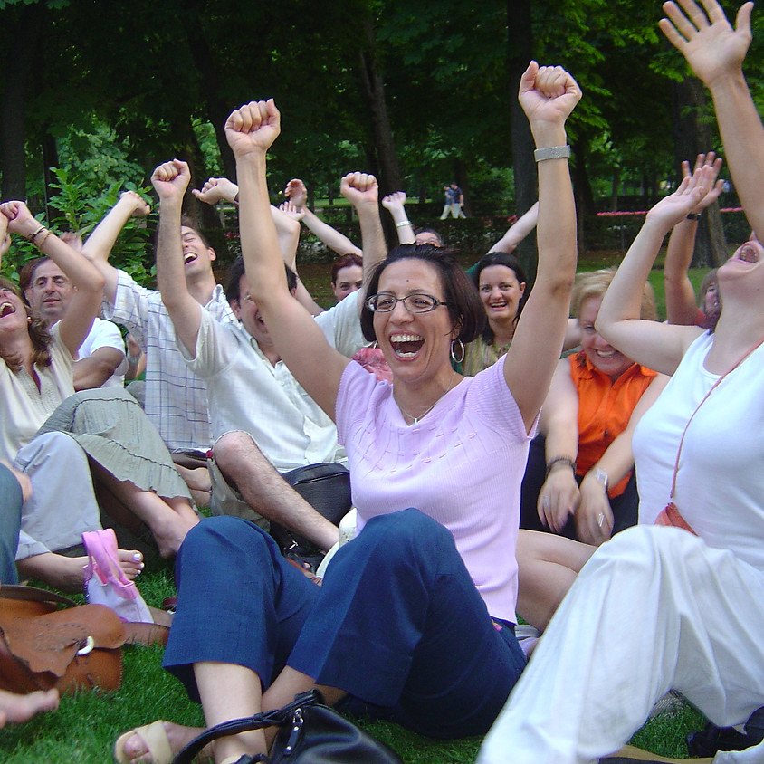 Laughter Yoga at Vitruvian Park
