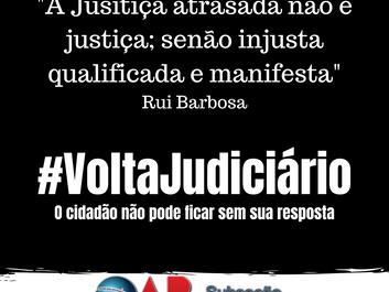 OAB Raul Soares adere à campanha #VoltaJudiciário