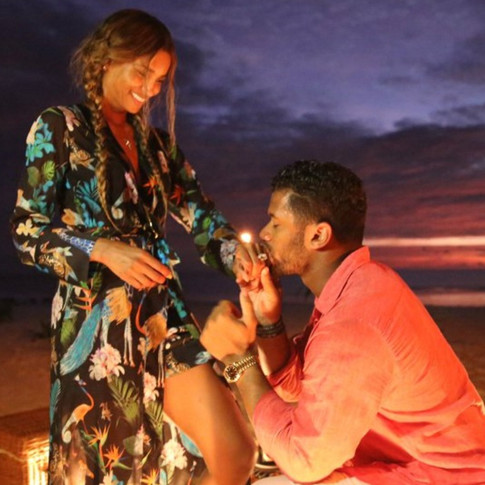Russell Wilson Posts Proposal to Ciara On Instagram