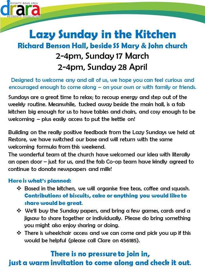 Lazy Sunday information