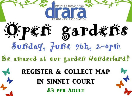 DRARA Open Gardens - this Sunday 9th June!
