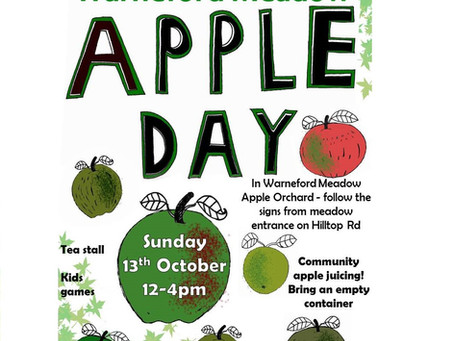 Warneford Meadow Apple Day - a magical autumn wonderland!
