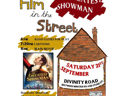 Film in the Street - this Saturday 21st September!