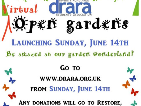 DRARA Open Gardens - this year it's going on-line!