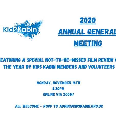 Join us for our first ever virtual AGM!