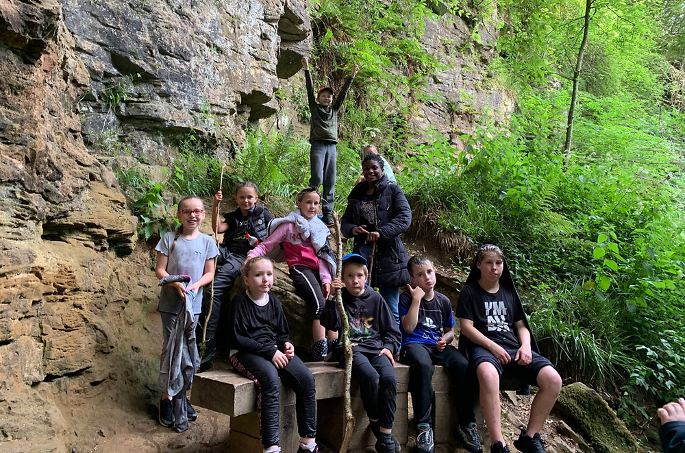 Some of Kids Kabin's members on a wild camping adventure
