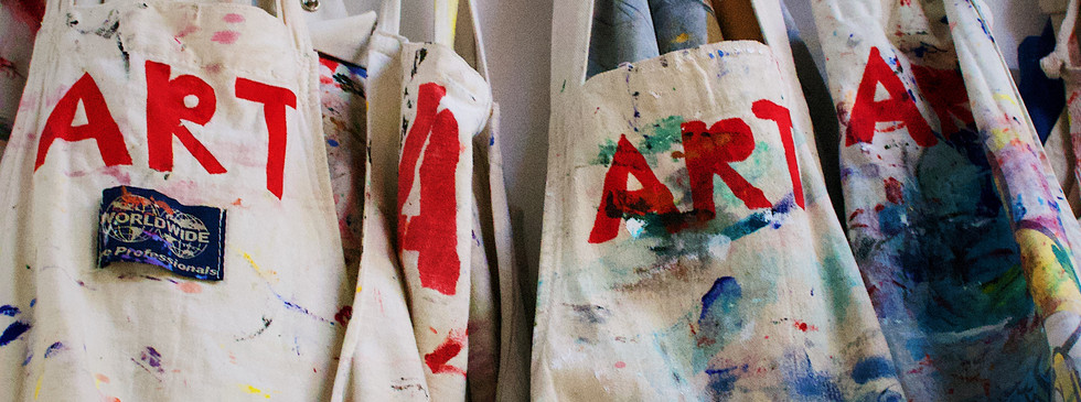 Aprons in the Art Room
