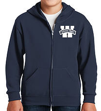 Full Zip Navy Hooded Sweatshirt