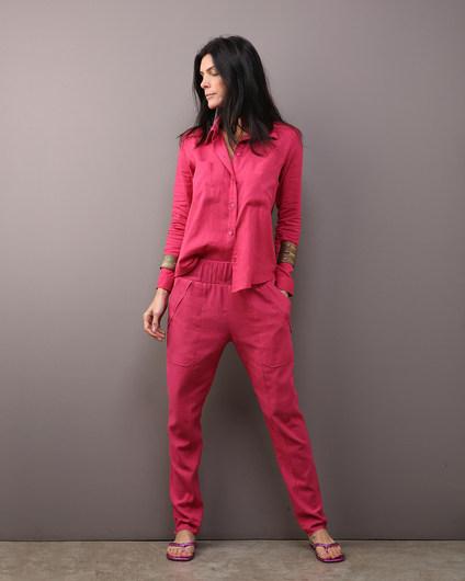 Camisa MAI & MAI Linho Pink e Calça Alfaiataria Linho Pink